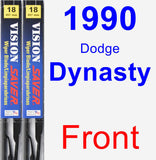 Front Wiper Blade Pack for 1990 Dodge Dynasty - Vision Saver