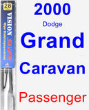 Passenger Wiper Blade for 2000 Dodge Grand Caravan - Vision Saver