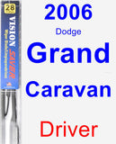 Driver Wiper Blade for 2006 Dodge Grand Caravan - Vision Saver