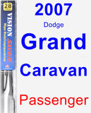 Passenger Wiper Blade for 2007 Dodge Grand Caravan - Vision Saver