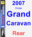 Rear Wiper Blade for 2007 Dodge Grand Caravan - Vision Saver