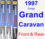 Front & Rear Wiper Blade Pack for 1997 Dodge Grand Caravan - Vision Saver