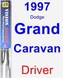 Driver Wiper Blade for 1997 Dodge Grand Caravan - Vision Saver
