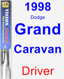 Driver Wiper Blade for 1998 Dodge Grand Caravan - Vision Saver