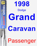 Passenger Wiper Blade for 1998 Dodge Grand Caravan - Vision Saver
