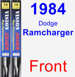 Front Wiper Blade Pack for 1984 Dodge Ramcharger - Vision Saver