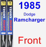 Front Wiper Blade Pack for 1985 Dodge Ramcharger - Vision Saver