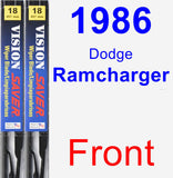 Front Wiper Blade Pack for 1986 Dodge Ramcharger - Vision Saver