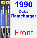 Front Wiper Blade Pack for 1990 Dodge Ramcharger - Vision Saver