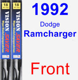 Front Wiper Blade Pack for 1992 Dodge Ramcharger - Vision Saver