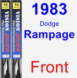 Front Wiper Blade Pack for 1983 Dodge Rampage - Vision Saver