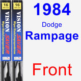 Front Wiper Blade Pack for 1984 Dodge Rampage - Vision Saver