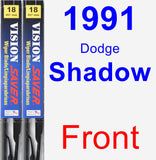 Front Wiper Blade Pack for 1991 Dodge Shadow - Vision Saver