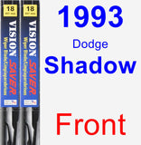 Front Wiper Blade Pack for 1993 Dodge Shadow - Vision Saver