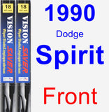 Front Wiper Blade Pack for 1990 Dodge Spirit - Vision Saver