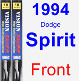 Front Wiper Blade Pack for 1994 Dodge Spirit - Vision Saver