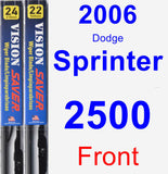 Front Wiper Blade Pack for 2006 Dodge Sprinter 2500 - Vision Saver