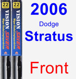 Front Wiper Blade Pack for 2006 Dodge Stratus - Vision Saver
