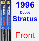 Front Wiper Blade Pack for 1996 Dodge Stratus - Vision Saver