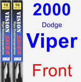Front Wiper Blade Pack for 2000 Dodge Viper - Vision Saver