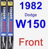 Front Wiper Blade Pack for 1982 Dodge W150 - Vision Saver