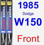 Front Wiper Blade Pack for 1985 Dodge W150 - Vision Saver