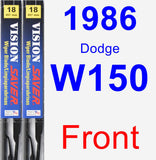 Front Wiper Blade Pack for 1986 Dodge W150 - Vision Saver