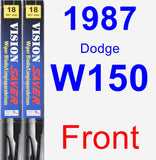 Front Wiper Blade Pack for 1987 Dodge W150 - Vision Saver