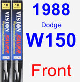 Front Wiper Blade Pack for 1988 Dodge W150 - Vision Saver