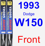 Front Wiper Blade Pack for 1993 Dodge W150 - Vision Saver
