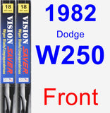 Front Wiper Blade Pack for 1982 Dodge W250 - Vision Saver