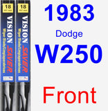 Front Wiper Blade Pack for 1983 Dodge W250 - Vision Saver
