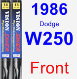 Front Wiper Blade Pack for 1986 Dodge W250 - Vision Saver