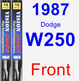 Front Wiper Blade Pack for 1987 Dodge W250 - Vision Saver