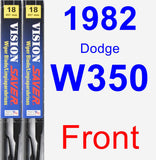 Front Wiper Blade Pack for 1982 Dodge W350 - Vision Saver