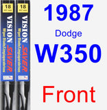 Front Wiper Blade Pack for 1987 Dodge W350 - Vision Saver