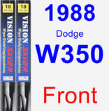 Front Wiper Blade Pack for 1988 Dodge W350 - Vision Saver