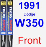 Front Wiper Blade Pack for 1991 Dodge W350 - Vision Saver