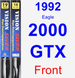 Front Wiper Blade Pack for 1992 Eagle 2000 GTX - Vision Saver