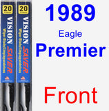 Front Wiper Blade Pack for 1989 Eagle Premier - Vision Saver