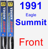 Front Wiper Blade Pack for 1991 Eagle Summit - Vision Saver