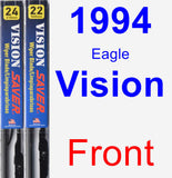 Front Wiper Blade Pack for 1994 Eagle Vision - Vision Saver