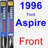 Front Wiper Blade Pack for 1996 Ford Aspire - Vision Saver
