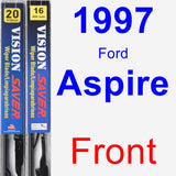 Front Wiper Blade Pack for 1997 Ford Aspire - Vision Saver