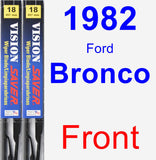 Front Wiper Blade Pack for 1982 Ford Bronco - Vision Saver