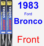 Front Wiper Blade Pack for 1983 Ford Bronco - Vision Saver