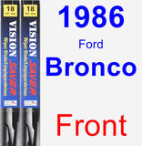 Front Wiper Blade Pack for 1986 Ford Bronco - Vision Saver