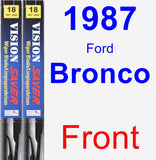 Front Wiper Blade Pack for 1987 Ford Bronco - Vision Saver