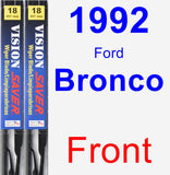 Front Wiper Blade Pack for 1992 Ford Bronco - Vision Saver