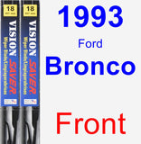 Front Wiper Blade Pack for 1993 Ford Bronco - Vision Saver